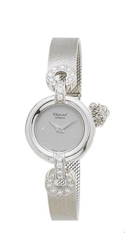 Chopard. A lady's 18ct white gold and diamond set manual wind cocktail watchCase by Kutchinsky, recent