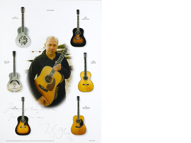 Mark Knopfler: A part lyric on print for 'Get Lucky',