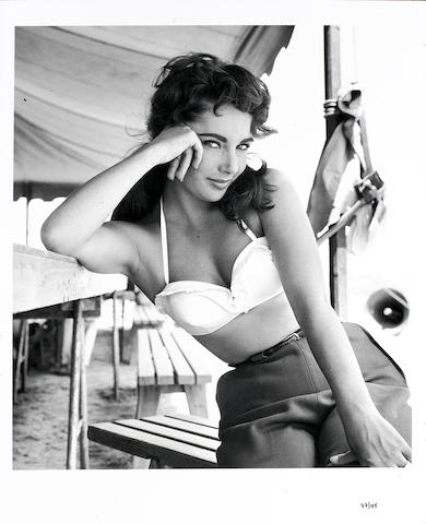 Frank Worth (American, born 1923) Elizabeth Taylor on the set of 'Giant',