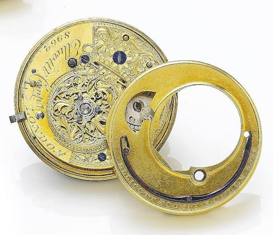 Ellicott & Co. A turn of the nineteenth century cylinder watch movement Number 8962, Circa 1800