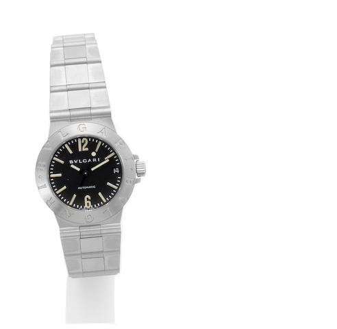 Bulgari. A lady's stainless steel automatic bracelet watch Serial No. 42244, Sold 4th February 2000
