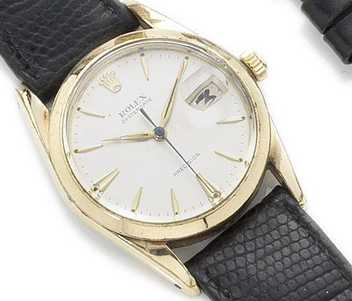 Rolex. A gold plated manual wind wristwatch Oysterdate Precision, Reference 6694, Case Number 472027, Circa 1947