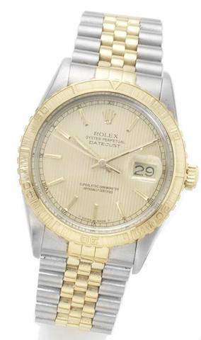 Rolex. A stainless steel and gold automatic wristwatchDatejust, reference: 16253, case number: 9182204, circa 1985