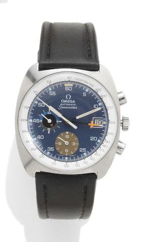 Omega. A stainless steel automatic chronograph wristwatch Seamaster, Reference: 36263830, circa 1973