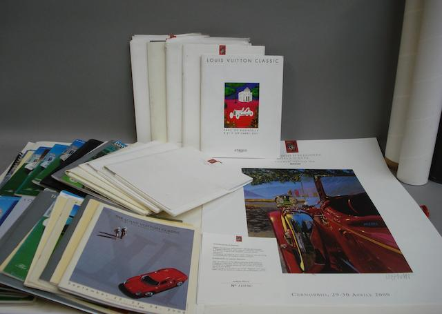 A quantity of Concourse de Elegance event programmes and posters,