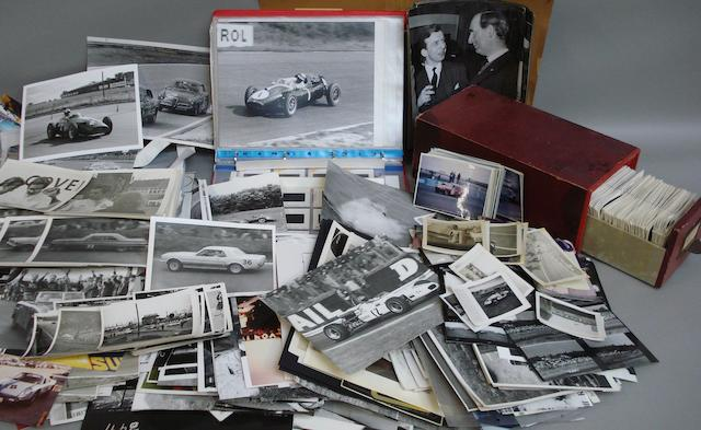 A quantity of photographs relating to post War racing cars,