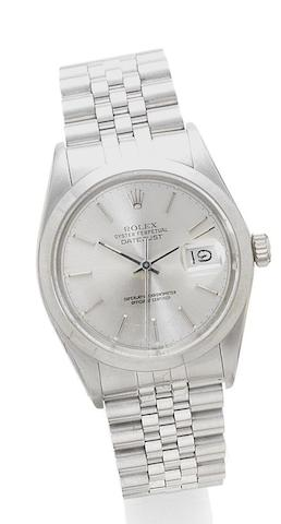 Rolex. A stainless steel automatic wristwatch with date Datejust, reference: 16000, case number: 9275164, circa 1986