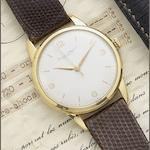 IWC. An 18ct gold manual wind wristwatch Circa 1960