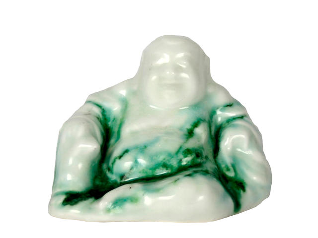 Associated Wares A very rare Royal Doulton Chinese Jade figure of a Buddha, designed by Charles Noke and Harry Nixon
