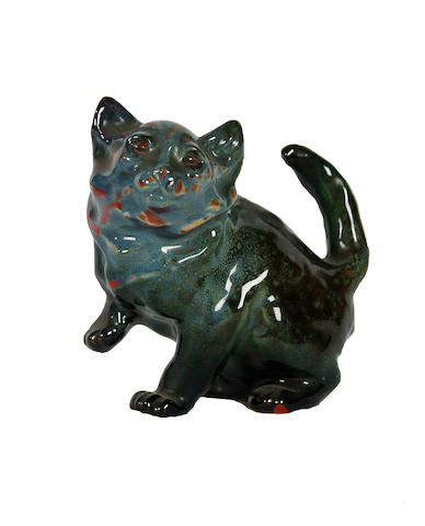 Sung Wares A very rare Royal Doulton Sung glazed figure of a 'Persian Kitten'