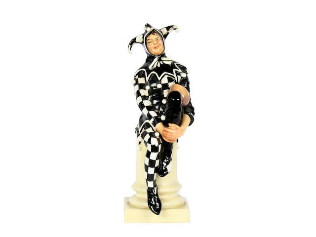 Figurines A rare Royal Doulton figure 'The Jester' (first version)