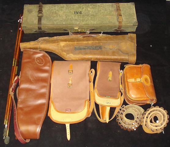 A group of shooting-related accessories