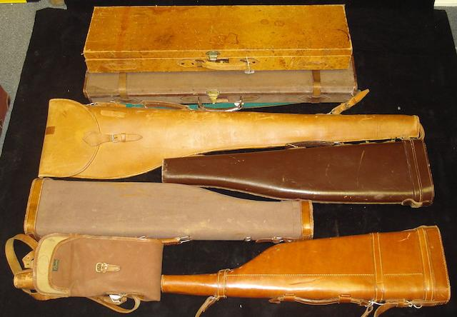 A pigskin leather single-guncase