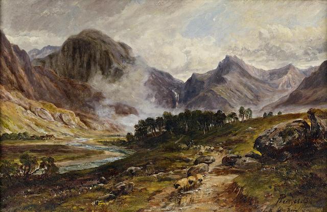 Arthur Perigal, RSA RSW (British, 1816-1884) 'Glen Nevis' 22 x 35cm