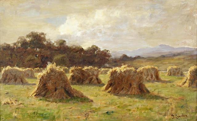 Duncan Cameron (British, 1837-1916) 'Sunshine on the sheaves'
