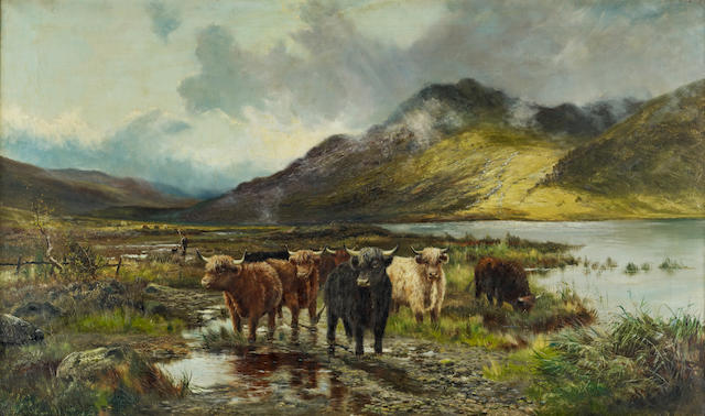 "Douglas Cameron (British 19th/20th Century) ""Loch Lomond after rain"""