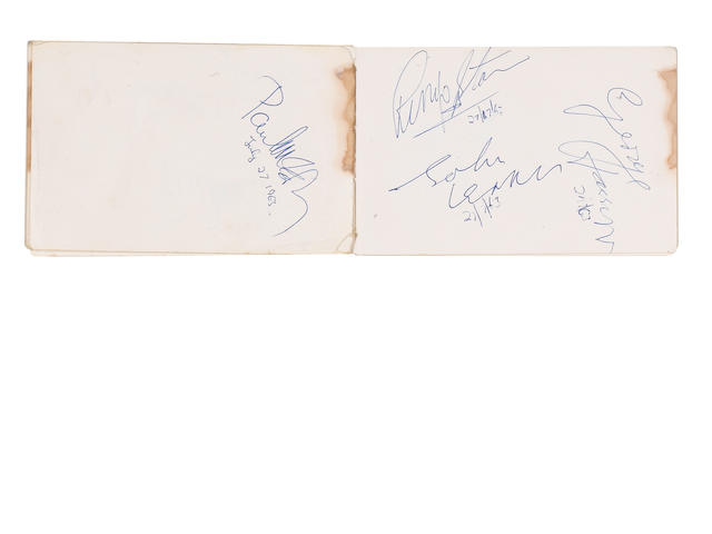 A set of Beatles autographs,  1963,