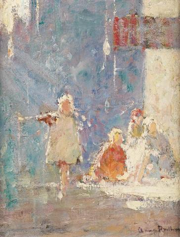 Anne Redpath, OBE RSA ARA LLD ARWS ROI RBA (British, 1895-1965) Street children