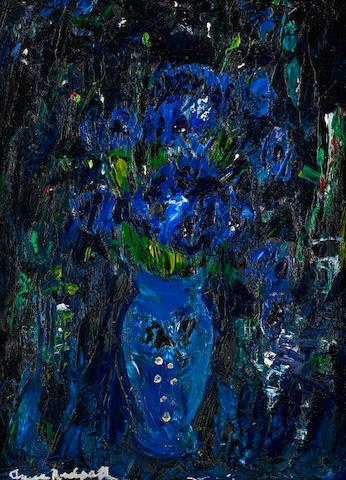 Anne Redpath, OBE RSA ARA LLD ARWS ROI RBA (British, 1895-1965) Blue Cornflowers