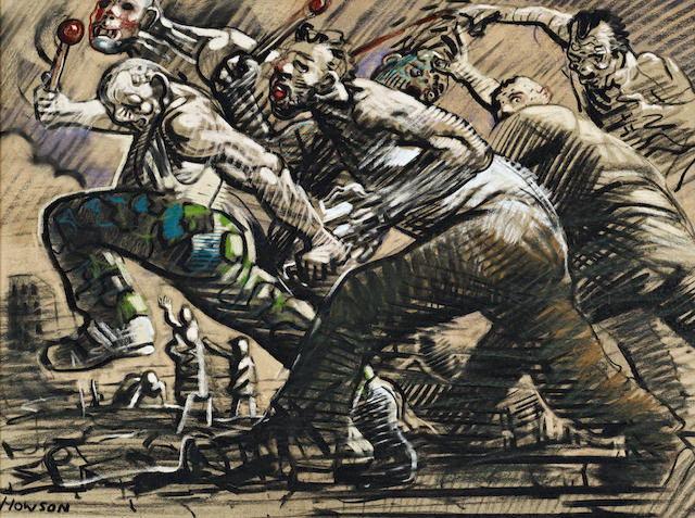 Peter Howson (British, born 1958) The Drummers