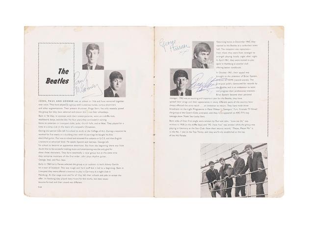 An autographed Beatles concert programme,