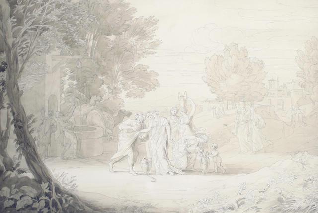 Continental School, 19th Century Biblical scene