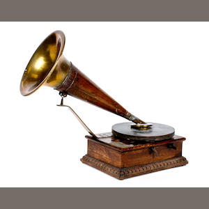 A rare Stollwerck improved model gramophone,   model B, circa 1904,