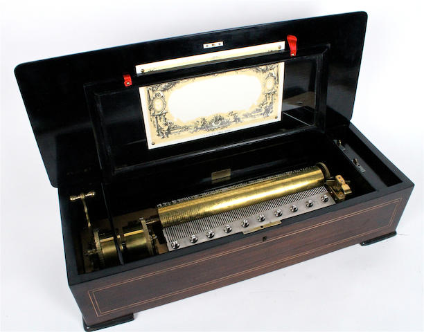 A musical box, by P.V.F., circa 1887,