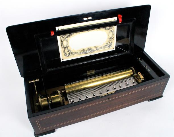 A musical box, by P.V.F., circa 1887,