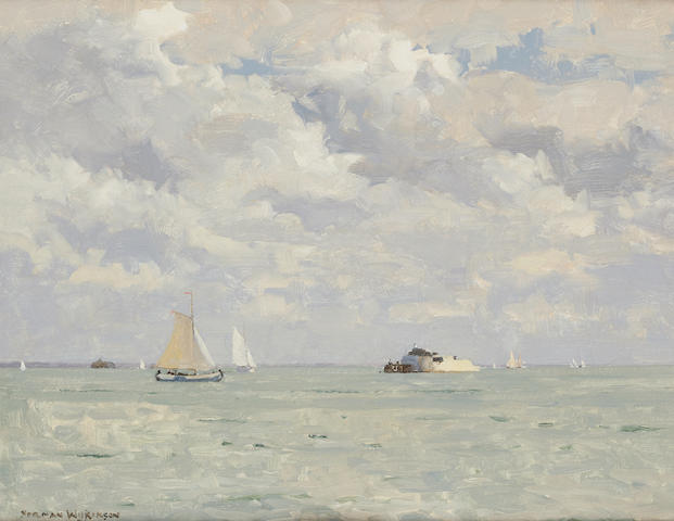 Norman Wilkinson (British, 1878-1971) Off Bembridge Point, Isle of Wight