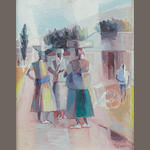 Gerard Sekoto (South African, 1913-1993) Women chatting on the street
