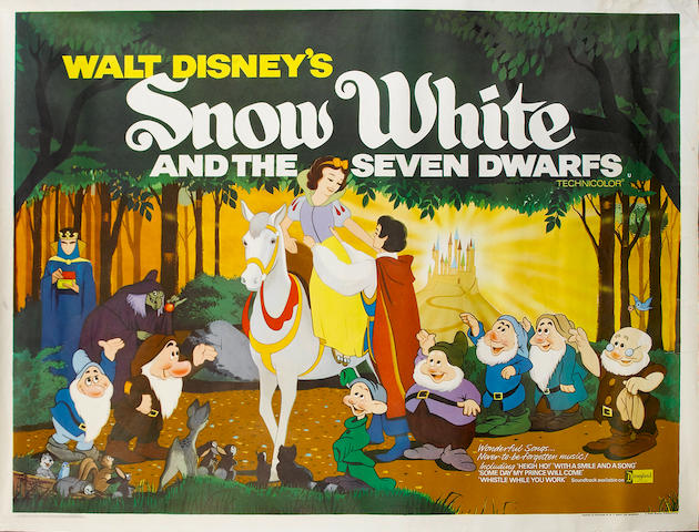 A collection of Walt Disney and Childrens UK Quad film posters, 1960s - 1980s, including: