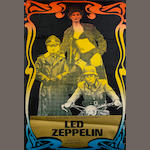 A scarce concert poster for Led Zeppelin at Southampton University, 22nd January 1973,
