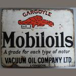 A 'Gargoyle - Mobiloil' double-sided enamel sign,