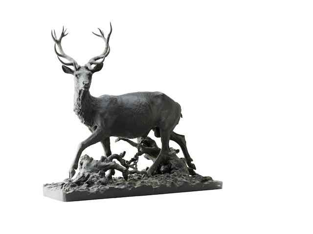 Fratin, Christophe(French, 1800-1864)A bronze figure of a Red Deer stag