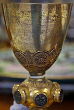 A Continental copper-gilt chalice