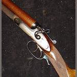 A 12-bore sidelock hammer gun by J. Frampton, no. 25377