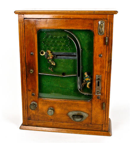 A rare ball-catcher wall machine,   circa 1912, most probably by Jentsch & Meerz,