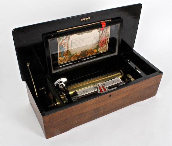 A musical box playing eight sacred airs, probably by Paillard, circa 1885,