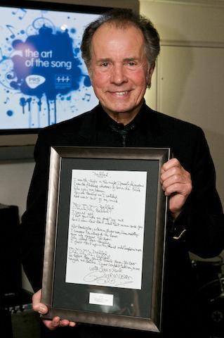 Barry Mason: A set of handwritten lyrics, for 'Delilah' as performed by Tom Jones,