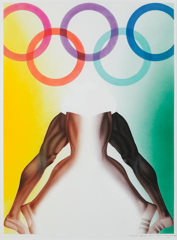 Allen Jones (British, born 1937) Poster for the Olympic Games, Munich 1970, signed, titled and dated in pencil