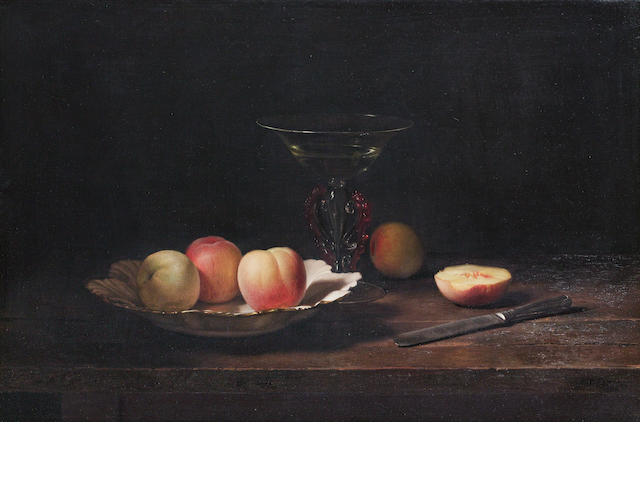 Jan Hendrik Eversen (Dutch, 1906-1995) Still life of peaches