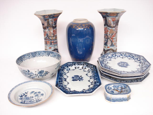 A collection of Chinese and Japanese porcelain 18th century and later
