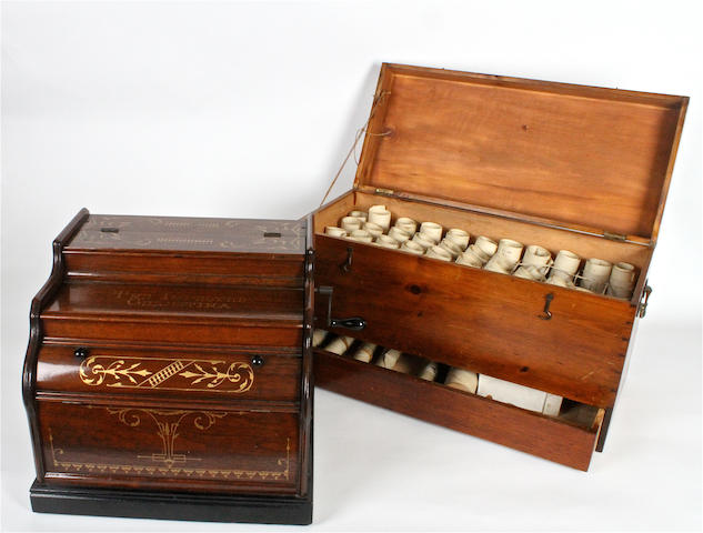 A fine Improved Celestina twenty-note hand-crank organette, circa 1890,