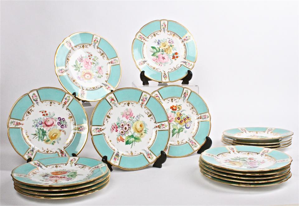 An English porcelain dessert service Victorian
