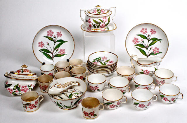An English porcelain part tea service Circa 1810