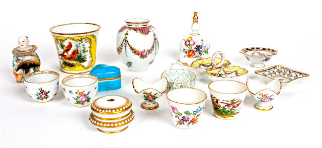 A small group of Dresden and other Continental porcelain 19th century
