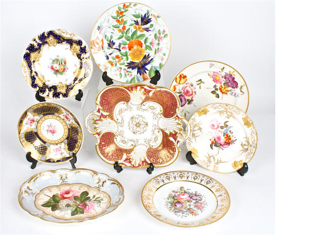 A large quantity of English porcelain plates 19th century