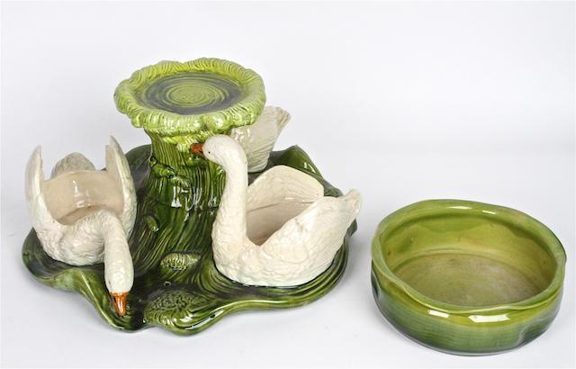 A Mintons pottery garden seat Circa 1870s