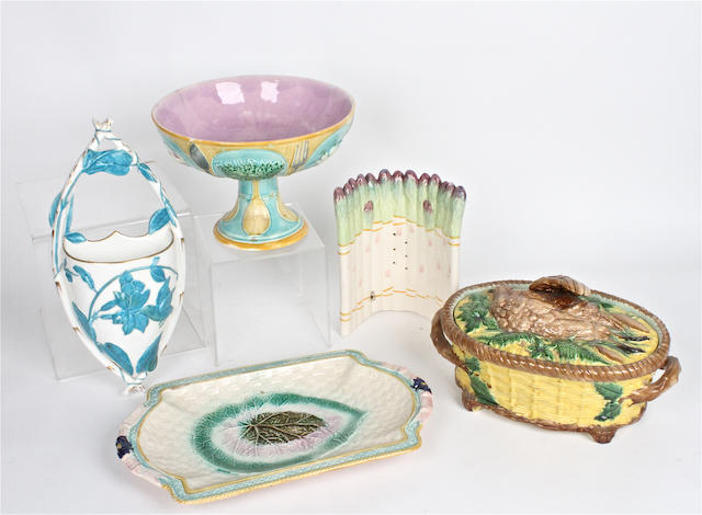 A small group of English majolica